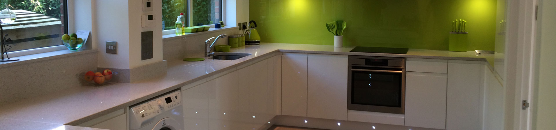 Newly refurbished green kitchen
